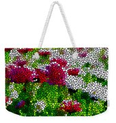 Stained Glass Chrysanthemum Flowers Weekender Tote Bag