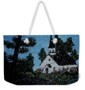 Stained Glass Church Scene Weekender Tote Bag