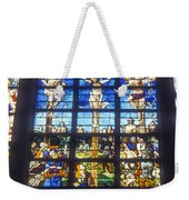 Stained Glass Crucifixion Weekender Tote Bag
