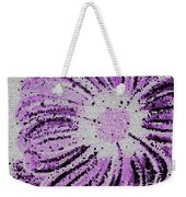 Stained Glass Flower With Purple Stripes Weekender Tote Bag