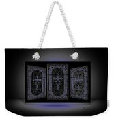 Stained Glass In Blue Weekender Tote Bag