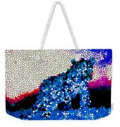 Stained Glass Leopard 1 Weekender Tote Bag