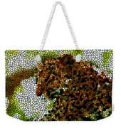 Stained Glass Leopard 2 Weekender Tote Bag