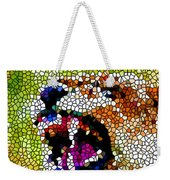 Stained Glass Leopard 3 Weekender Tote Bag