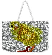 Stained Glass Little Chicken Weekender Tote Bag