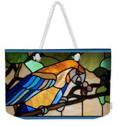 Stained Glass Parrot Window Weekender Tote Bag