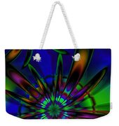 Stained Glass Passion Flowers Weekender Tote Bag