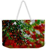 Stained Glass Pine Tree Weekender Tote Bag