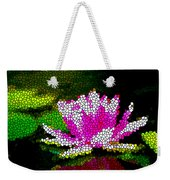 Stained Glass Pink Lotus Flower   Weekender Tote Bag by Lanjee Chee