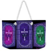 Stained Glass - Purple Weekender Tote Bag