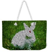 Stained Glass Rabbit Weekender Tote Bag
