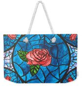 Stained Glass Roses Weekender Tote Bag