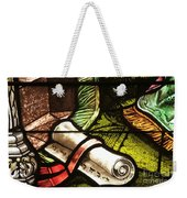 Stained Glass Scroll Weekender Tote Bag