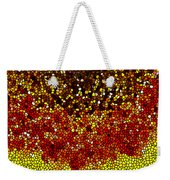 Stained Glass Sunflower Closeup Weekender Tote Bag
