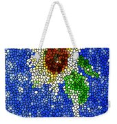 Stained Glass  Sunflower Over The Blue Sky Weekender Tote Bag