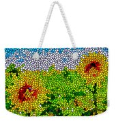 Stained Glass Sunflowers Weekender Tote Bag