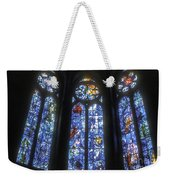Stained Glass Triplets Weekender Tote Bag