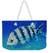 Stained Glass Underwater Fish Weekender Tote Bag