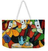 Stained Glass V Weekender Tote Bag