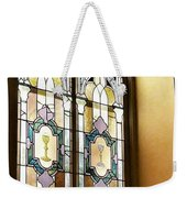 Stained Glass Window In Arch Weekender Tote Bag