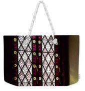 Stained Glass Window In Saint Paul's Episcopal Church-1882 In Tombstone-az Weekender Tote Bag
