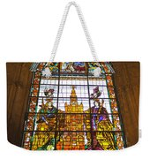 Stained Glass Window In Seville Cathedral Weekender Tote Bag