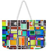 Stained Glass Window Multi-colored Abstract Weekender Tote Bag