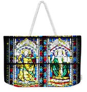 Stained Glass Window Of Santa Maria Del Fiore Church Florence Italy Weekender Tote Bag