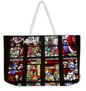 Stained Glass Window Xi Weekender Tote Bag