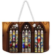 Stained Glass Windows At Saint Josephs Cathedral Buffalo New York Weekender Tote Bag