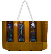Stained Glass Windows At St Sophia Weekender Tote Bag