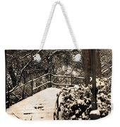 Stairway In Central Park On A Stormy Day Weekender Tote Bag