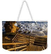 Steps To Blue Ocean And Rocky Beach Weekender Tote Bag