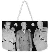 Stalin Truman And Churchill  Weekender Tote Bag