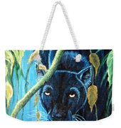 Stalking Black Panther Weekender Tote Bag