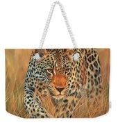 Stalking Leopard Weekender Tote Bag