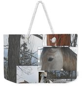 Stallions Collage There Is A Connection Weekender Tote Bag