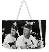 Stan Musial And Ted Williams Weekender Tote Bag