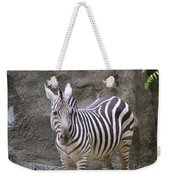 Standalone Zebra Weekender Tote Bag