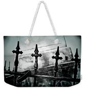 Standing Guard By Loved Ones - Bw Texture Weekender Tote Bag