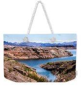 Standing In A Ravine At Lake Mead Weekender Tote Bag