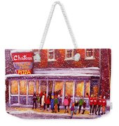 Standing In Line At The Chateau Weekender Tote Bag
