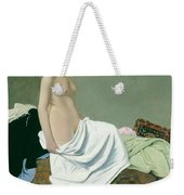Standing Nude Holding A Gown On Her Knee Weekender Tote Bag