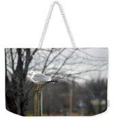Standing Seagull Weekender Tote Bag