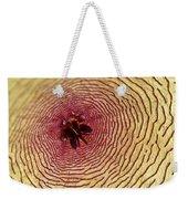 Stapelia Grandiflora - Close Up Weekender Tote Bag