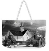 Star Barn Complex In Infrared Weekender Tote Bag