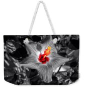 Star Bright Hibiscus Selective Coloring Digital Art Weekender Tote Bag