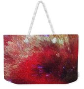 Star Burst - Red Abstract Art By Sharon Cummings Weekender Tote Bag