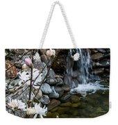 Star Magnolia And Flowing Water Weekender Tote Bag