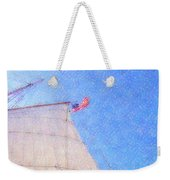 Star Of India. Flag And Sail Weekender Tote Bag